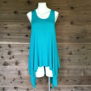 Boutique Over Sized Shark Bite Tank Tunic Sz Small